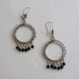 Silver Suns Taxco Earrings