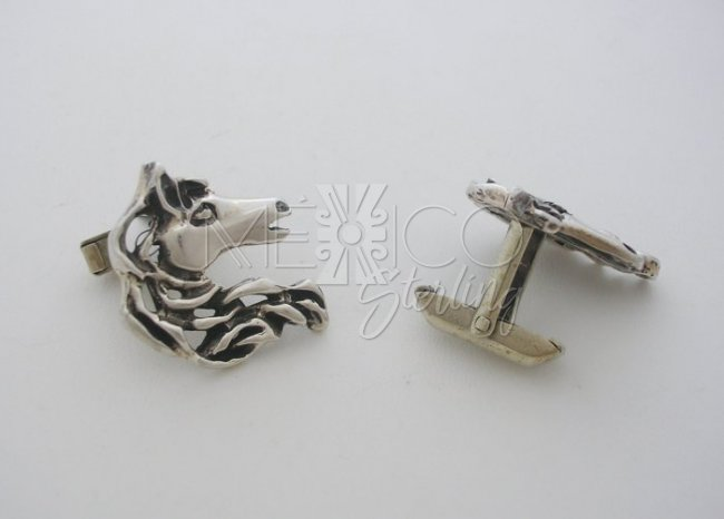 Taxco Sterling Silver Cufflinks with Horses Heads