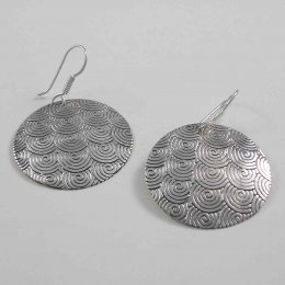 Happy Swirls, Taxco Silver Earrings