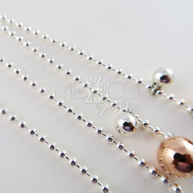 Sterling Silver Playful Planets Necklace Chain