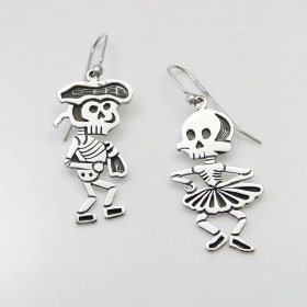 Taxco Silver Dancing Torero Earrings