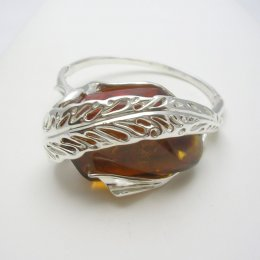 Taxco Silver and Chiapas Amber Cuff