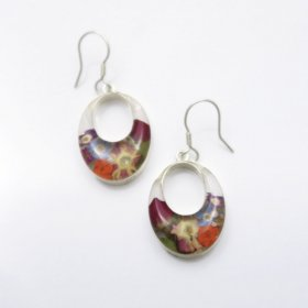 Charming Silver and Flowers Earrings
