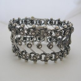 Sterling Silver Bracelet Baroque Style