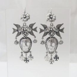 Mazahua Silver Calacas Earrings