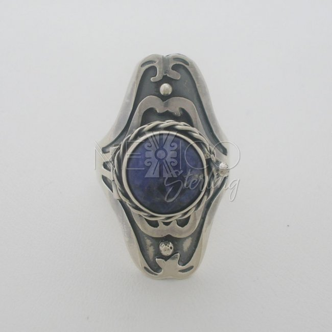 Taxco Silver Poison Ring Dramatic Design