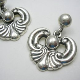 Classic Margot de Taxco Silver Earrings