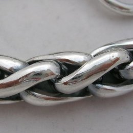 Solid Taxco Silver Braided Bracelet