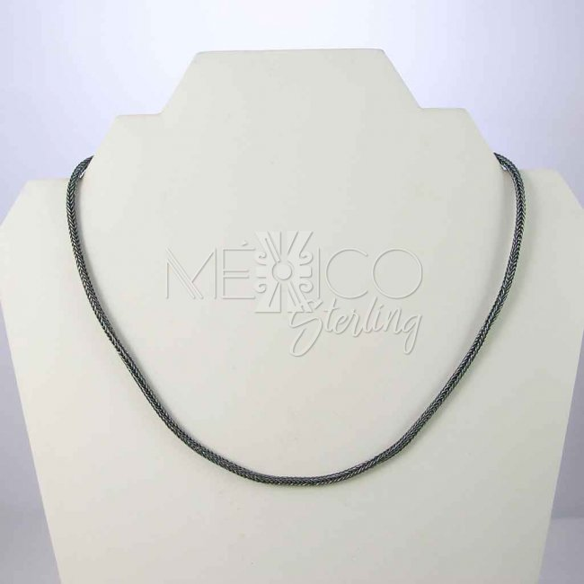Midnight in Taxco Silver Necklace