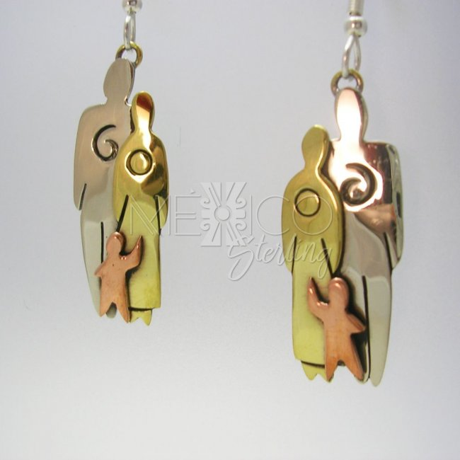Mixed Metals Dangling Earrings