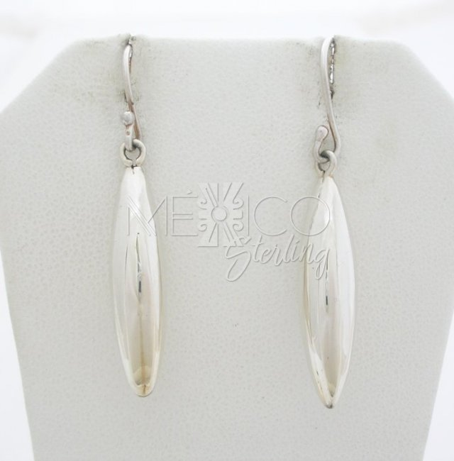 Contemporary Solid Sterling Silver Earrings