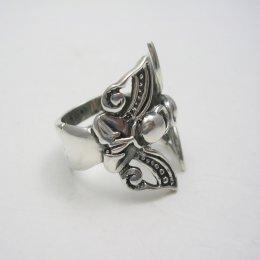 Taxco Sterling Silver Angel Ring