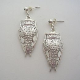 Margot de Taxco Molds Snake Silver Earrings