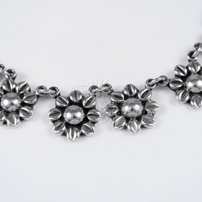 Taxco Silver Love me Daisy Necklace