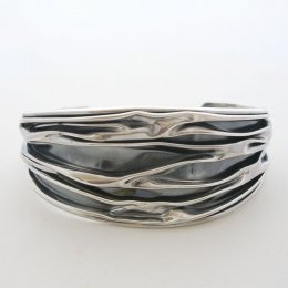 Oxidized Silver Cuff, Contemporary Design