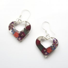 Still Nature Silver Hearts Earrings