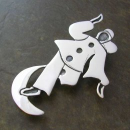 Happy Pierrot Taxco Silver Pendant-Brooch