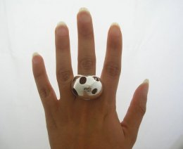 Fashionable Taxco Sterling Silver Lady Bug Ring