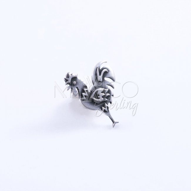 Taxco Silver Happy Singing Rooster Pin