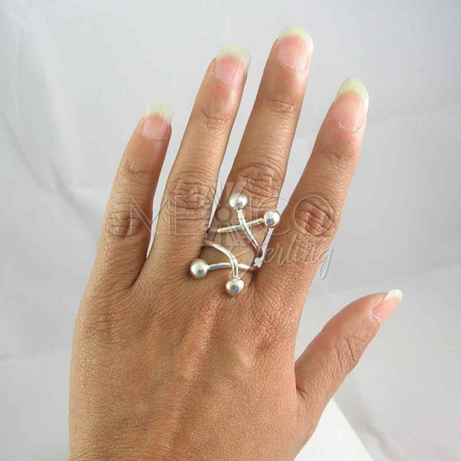 Taxco Sterling Silver Jacks Ring