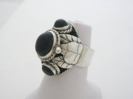 Collectible Artisan, Adjustable Taxco Silver Poison Ring