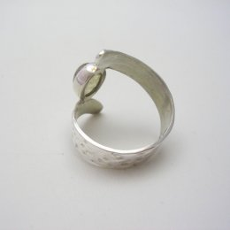 Sterling Silver Ring with Hammered Surface
