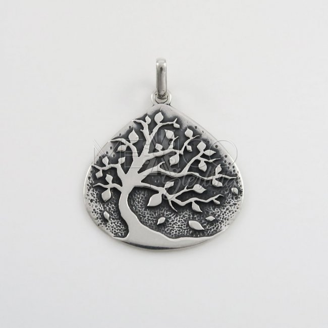 Taxco Silver Tree of Life Pendant - Click Image to Close