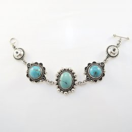Silver Turquoise Victorian Dream Bracelet