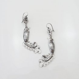 Mazahua Silver Paradise Bird Earrings