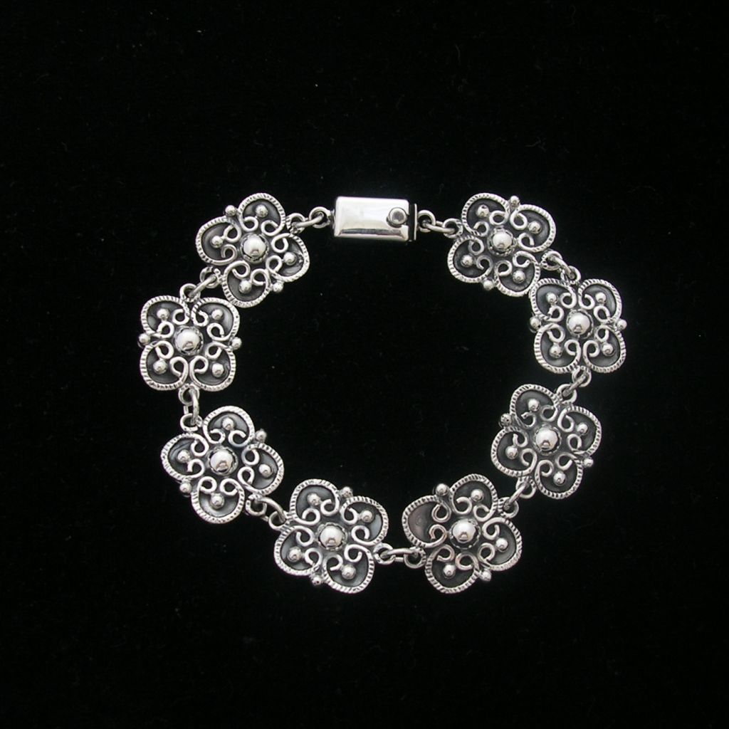 Classic Mexican Sterling Silver Bracelet
