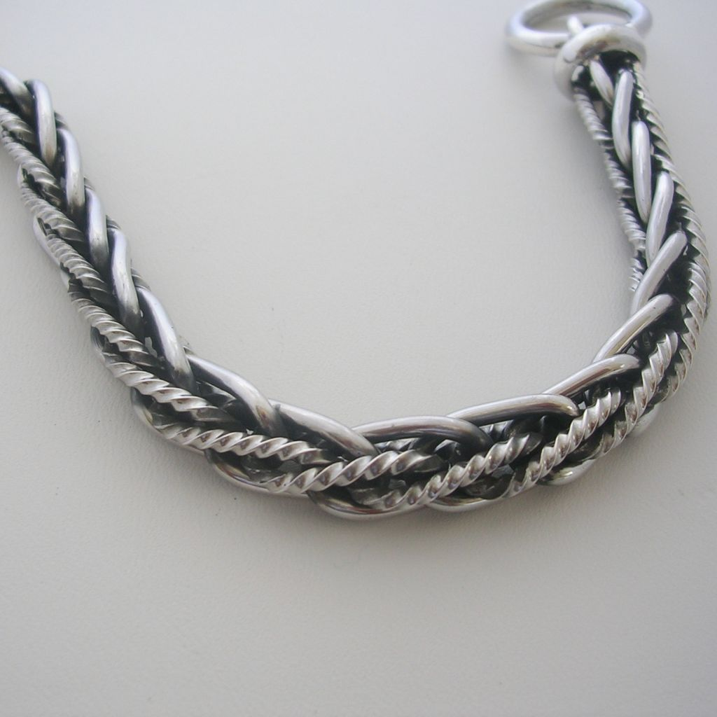 Completely Handmade Taxco Solid Silver bracelet