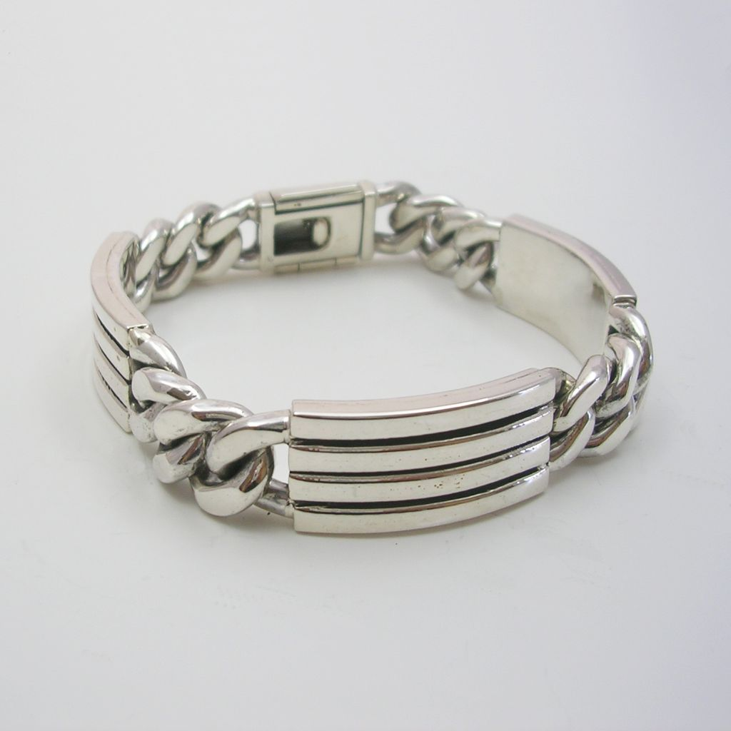 Solid Sterling Silver Men Bracelet