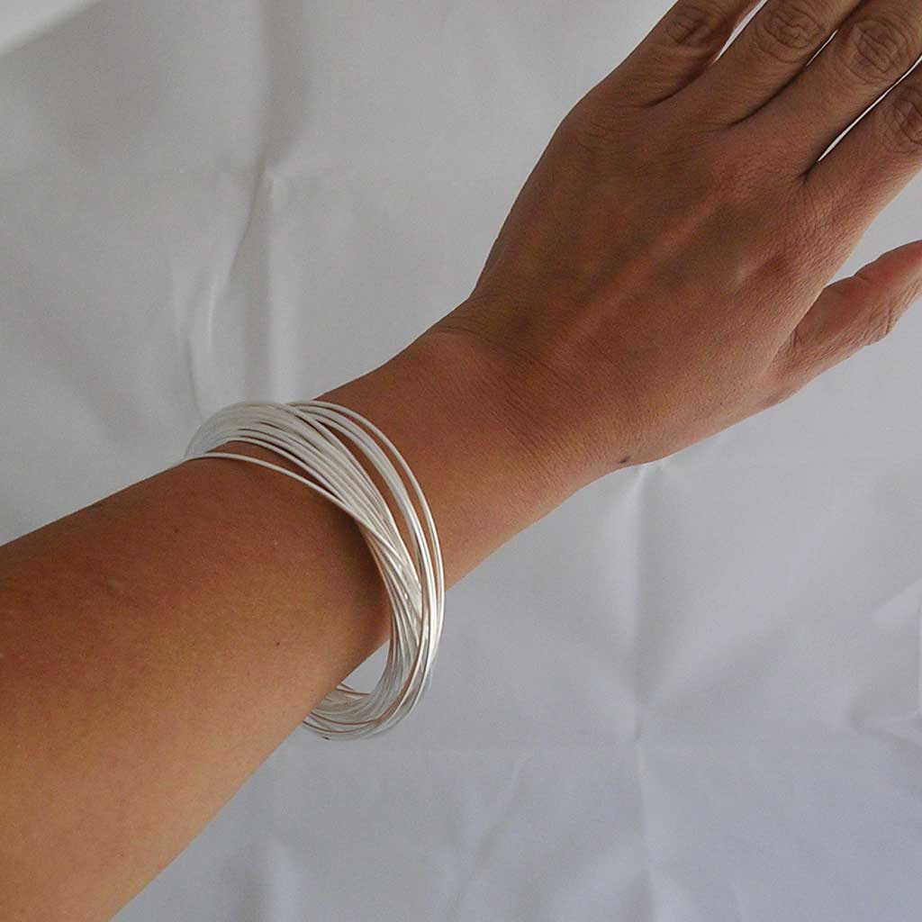 Dancing Taxco Hoops Silver Bangles
