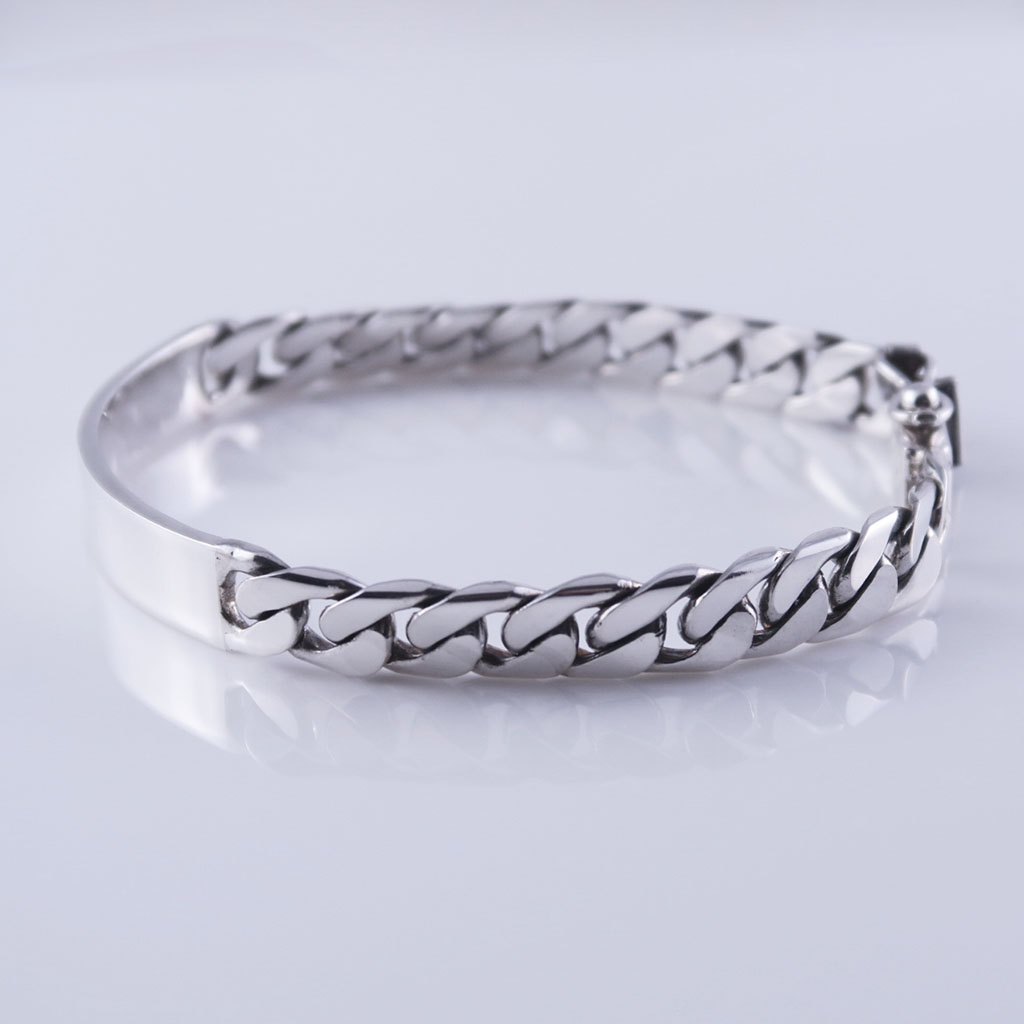 Unisex Sterling Silver Cuban Links Bracelet
