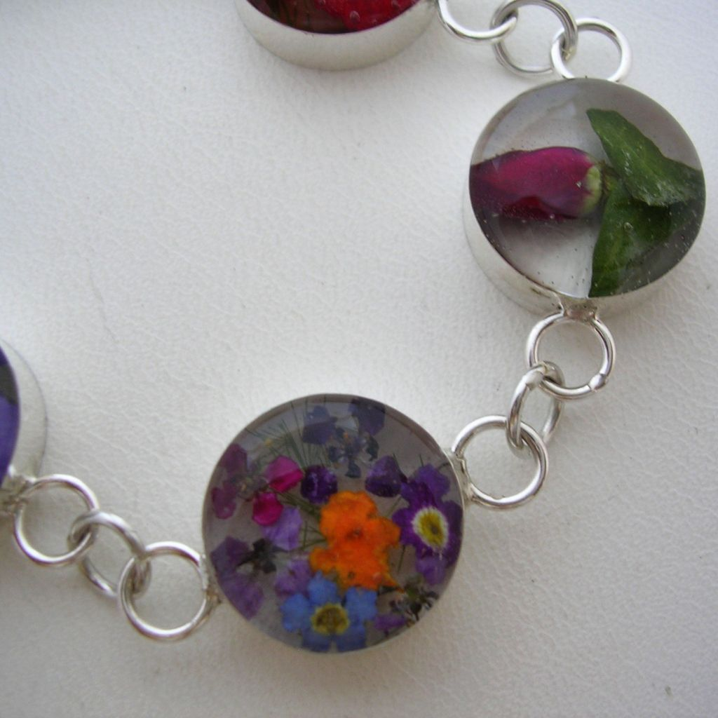 Taxco Silver Still Life Mexican Bracelet