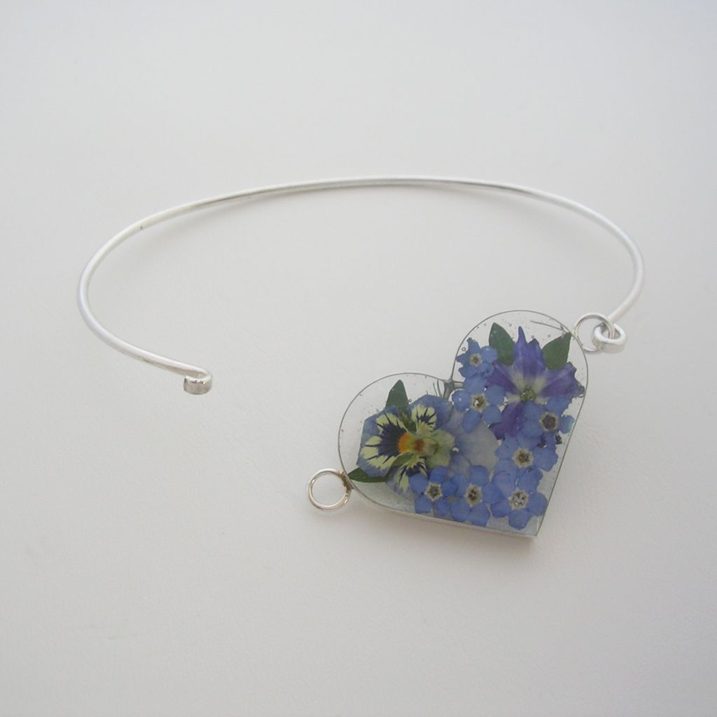 Mexican Sterling Silver and Still Nature Bracelet