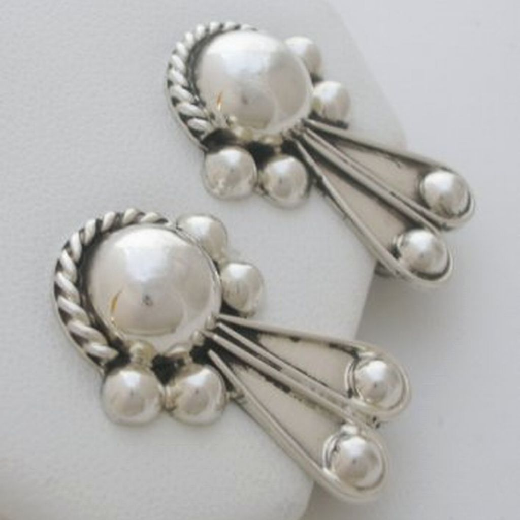 Mexican Sterling Silver Clip Earrings