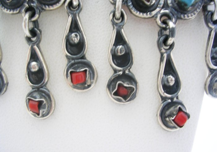 Rustic Style Silver stone Dangling Earrings
