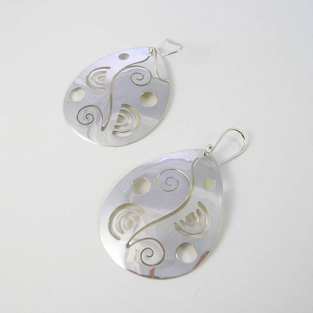 Glorious Nature Taxco Silver Earrings