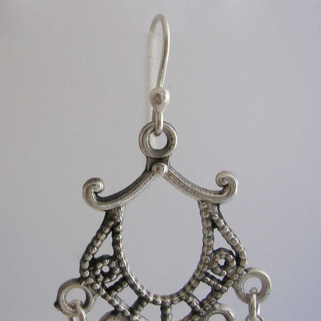 Asian Wind Mexican Silver Earrings