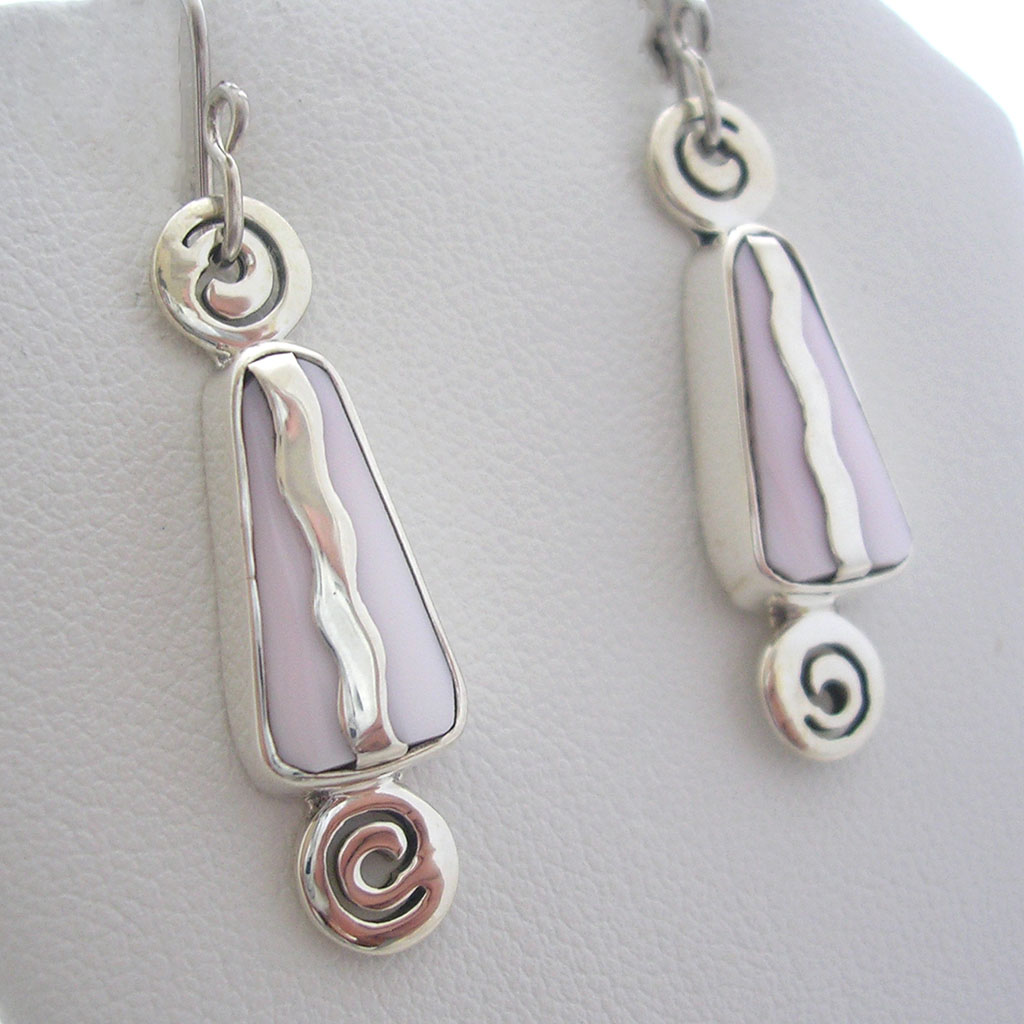 Taxco Silver Candy Land Dangle Earrings
