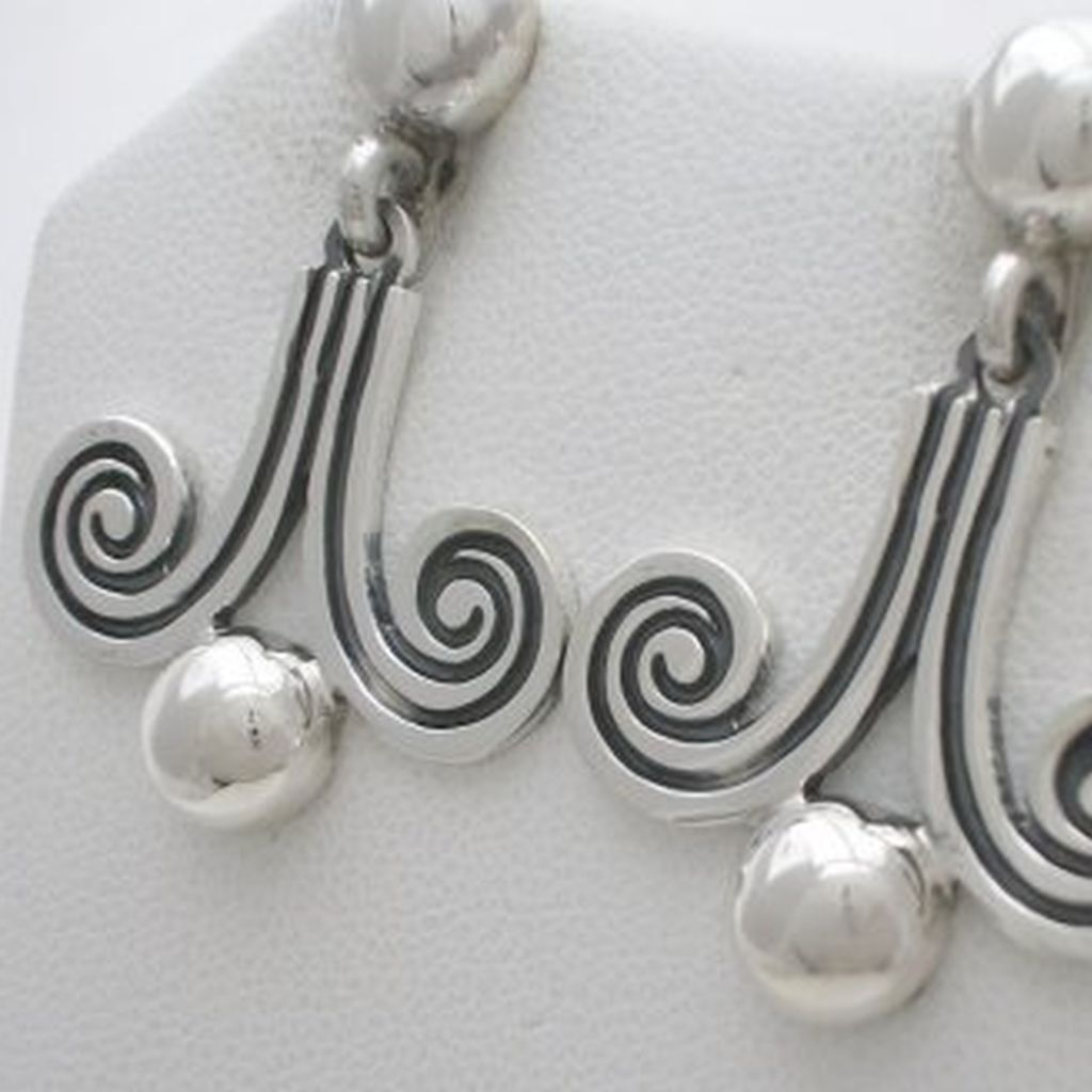 Margot de Taxco Molds Silver Earrings