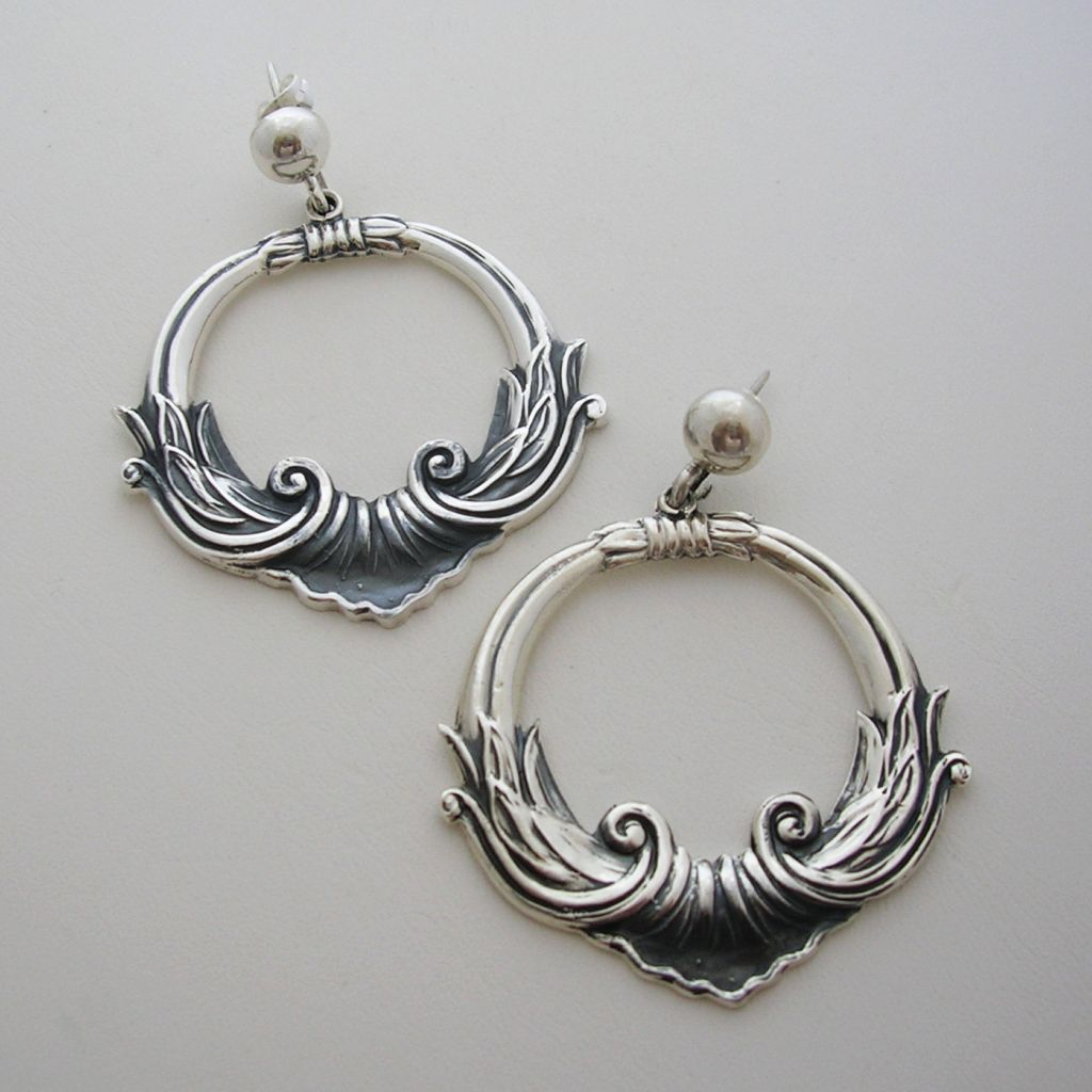 Margot de Taxco Sterling Silver Earrings