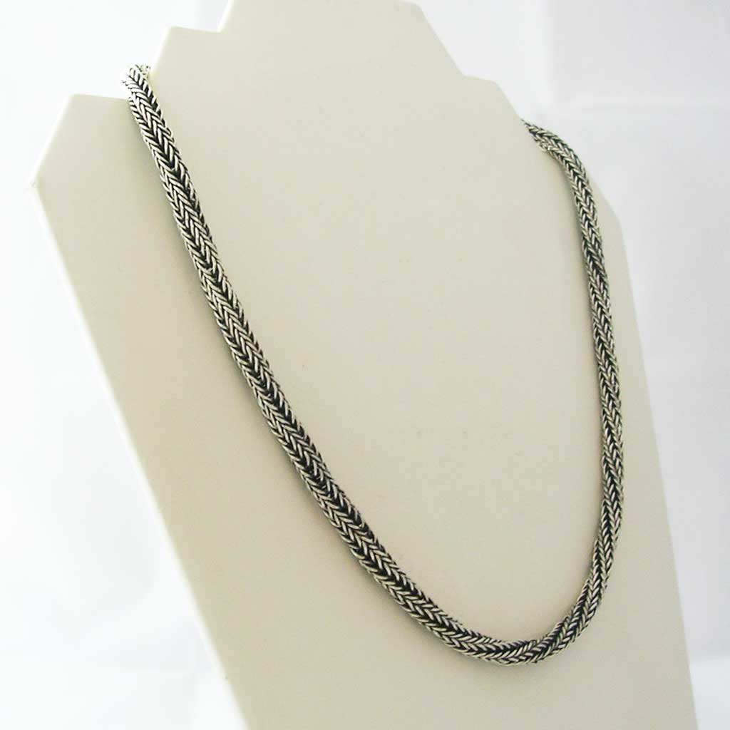 Happy Twirls Taxco Silver Thick Chain