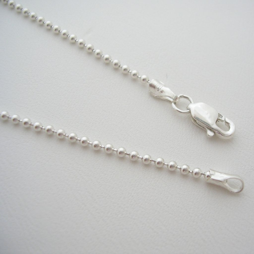 Taxco 925 Silver Chain with Small Silver Beads