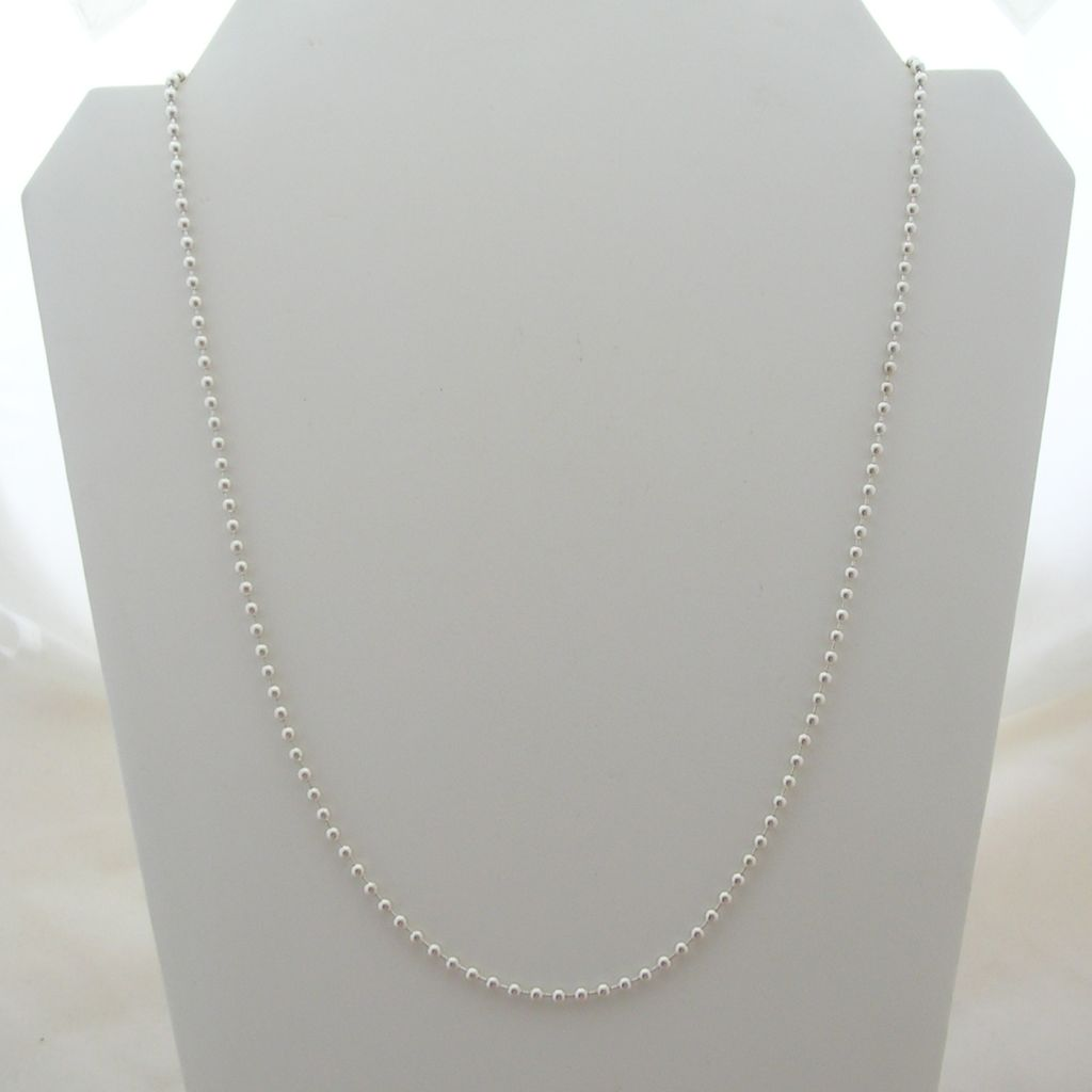 Long Taxco 925 Silver Chain with Silver Beads