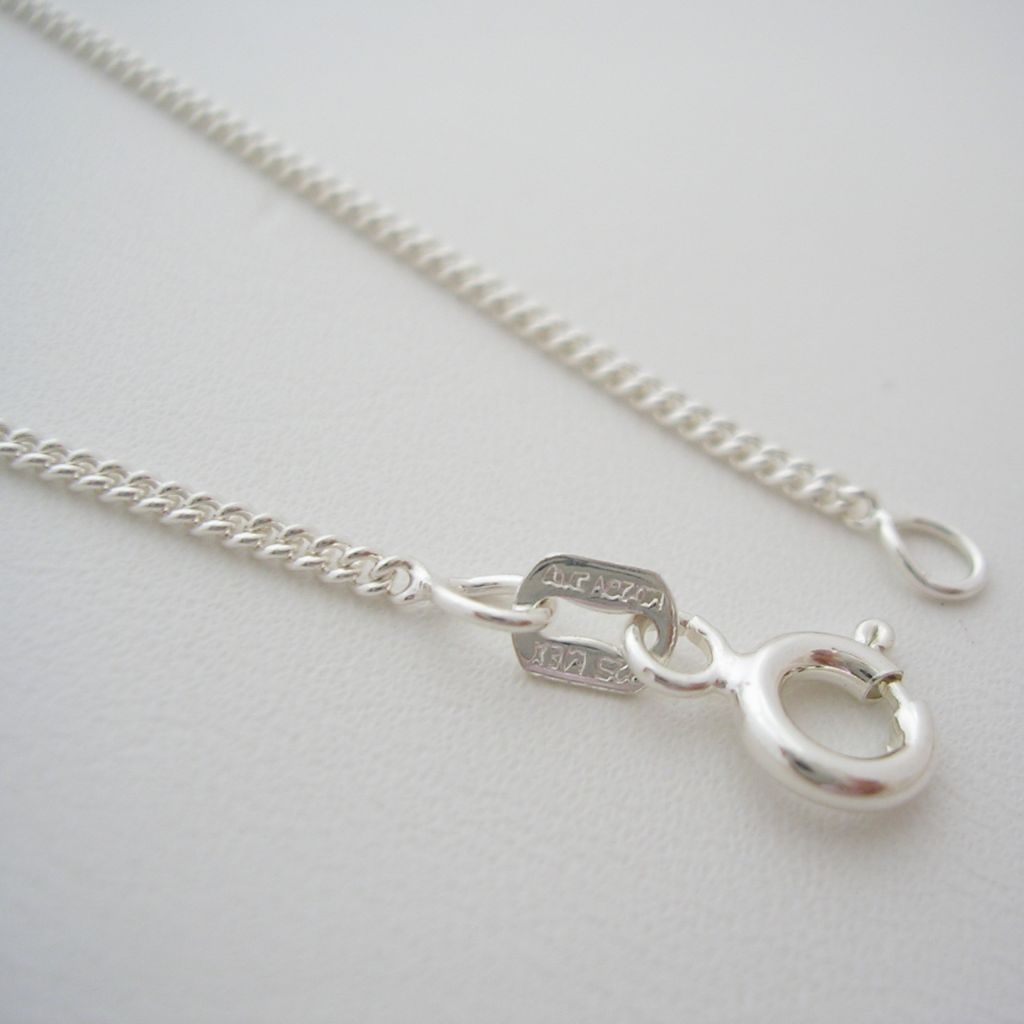 Taxco Silver Chain Necklace with Classic Pattern