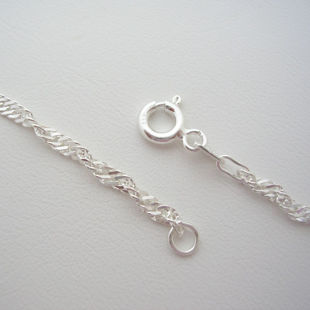 Taxco Sterling Silver Chain with a Twist