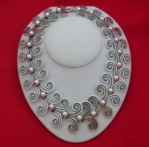 Sterling Silver Necklace Designed by Margot de Taxco