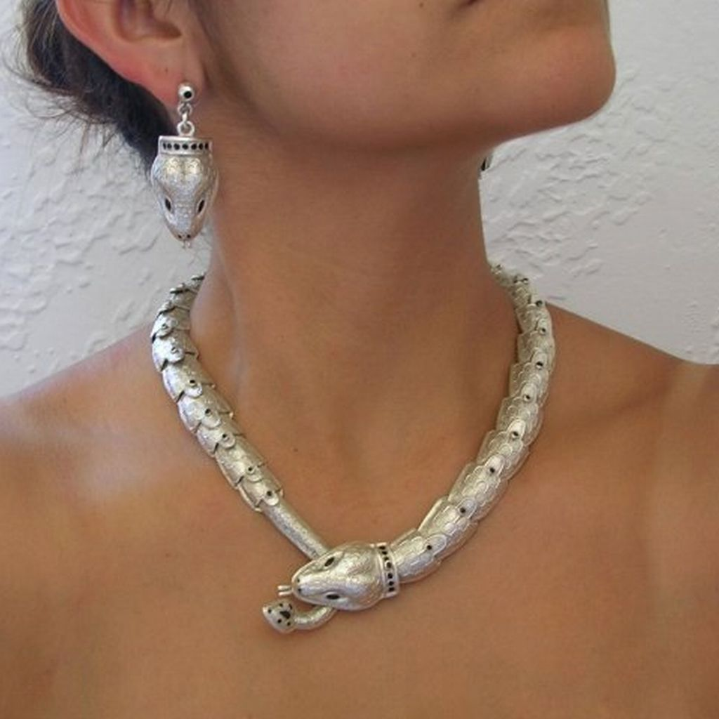 Silver Snake Necklace Margot de Taxco Molds